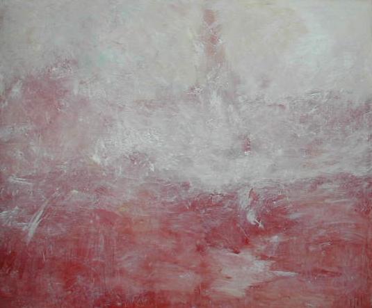 Acryl op doek, in lijst 104 x 124